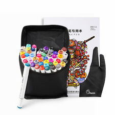 48 Color TOUCHNEW Alcohol Art Sketch Pen Twin Tip Marker Pen Set+ Glove+Book+Bag