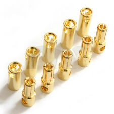 5 Pairs 5.5mm Bullet Connector Gold Plated 100A for RC Drone Truck Plane Boat