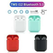 i12 5.0 TWS Bluetooth Headphones Candy Colour Outlook Touch Control - Black