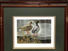 CANADA #1 DUCK STAMP PRINT FRAMED WATERFOWL ARTIST SIGNED MICHAEL BATEMAN 1985