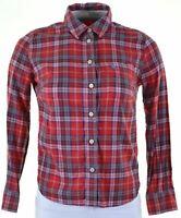 JACK WILLS Womens Shirt UK 8 Small Red Check Cotton  KC19