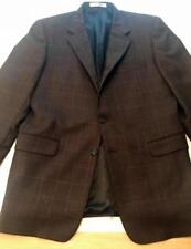 Men's Hickey Freeman Current Brown Plaid Jacket / Blazer Size 42 in EUC