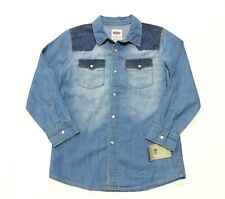 NWT LEVI'S Pearl Snap Up Long Sleeve Shirt Youth Size Medium (10-12 Yrs)