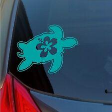Hibiscus Turtle vinyl sticker decal skate honu turtle flower Hawaii sea ocean HI