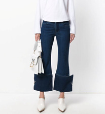 Marques Almeida frayed cuff silver ring jeans, sizes UK 8 & 10, retail $455.00