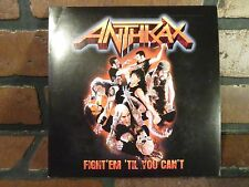 ANTHRAX Fight'em Til You Can't /Devil You Know RARE Blue Vinyl NEW 45 Rpm Record