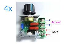 4X Drehzahlsteller Spannungsregler 2000W 50-220V/AC SCR Dimmen Drehzahlregelung