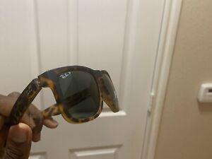 Rayban Justin RB4165 Tortoise/Brown Gradient 55MM Polarized Sunglasses