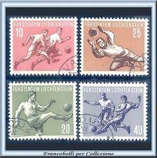 1954 Liechtenstein Soggetti Sportivi 1ª serie Calcio n. 284/287 Usati