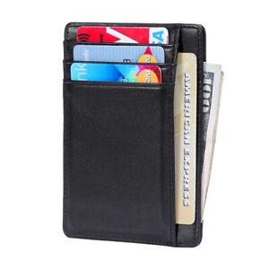 Edles Kreditkarten Etui aus echt Leder mit NFC RFID Schutz EC Kartenetui Neu