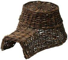 HEDGEHOG HOUSE WOOD WICKER wildlife garden hibernation shelter nest basket 53cm