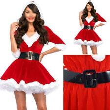 Women Fashion Santa Claus Xmas Costume Waistbelt Cosplay Outfit Fancy Dress Gift