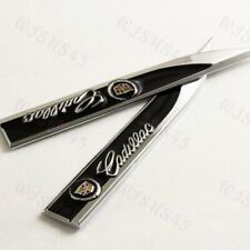 3D Metal Emblem Car Trunk Side Wing Fender Decal Badge Sticker for CADILLAC 2 pc