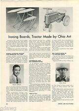 1960 ADVERT Ohio Art Toy Ride On Tractor Johnny Ringo TV Show Puppets The Texan