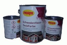 15,80€/L 3 Liter Pigrol Schwedenhaus Deckfarbe  Grün Wetterschutz-farbe 3000ml
