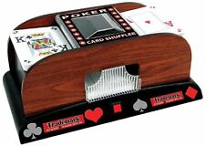 Card Shuffler Machine Automatic Poker Wood Casino Texas Holdem Blackjack 2 Deck