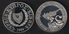 2004 ACCESSION CYPRUS TO E.U TRITON 1 POUND BRILLIANT UNC. COIN IN OFFICIAL CASE