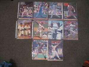 Lot of 10 Beckett Baseball Card Monthly Guides from 1991-Brett-Griffey-Ripken-EX