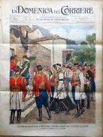 La Domenica del Corriere 11 Agosto 1901 Montenegro Camillotti Re Umberto Benassi