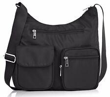 Suvelle Carryall RFID Travel Crossbody Shoulder Bag Multi Pocket Nylon Purse NEW