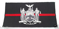 THIN RED LINE NEW YORK STATE FIREFIGHTERS EMT FIRE RESCUE HERO Patch P4456 E