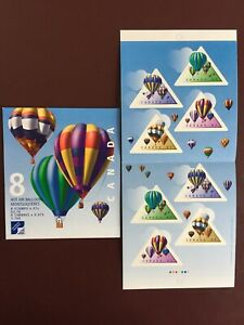 Canada Stamp Booklet - 2001 47-cent HOT AIR BALLOONS  2 Panes of 4 Stamps Each