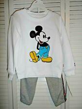 Cute Levi's boys size 6 gray sweatpants white Mickey Mouse sweatshirt NWT set