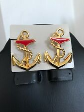 Estate Vintage Avon jewelry ANCHORS AWEIGH CLIP-ON EARRINGS, NEW Clean Perfect