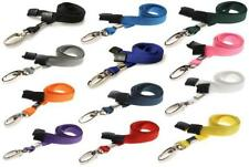 LANYARD ID Card NECK STRAP Holder with CLIP For BADGE Pass USB Keys ALL COLOURS