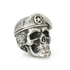 Cool Paracord Skull Beads Hand-Casted from Nickel Silver Custom EDC Tool Charms