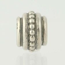 New Pandora Bead - Sterling Silver Beaded Beveled Charm 925 ALE Retired