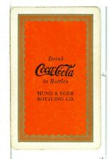 """Single Vintage Playing Card Coca Cola """"Hund & Eger"""" 1939, orange, NEW DISCOVERY"""