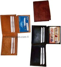 Lot of 3 New style leather man's wallets 2 suede lined billfolds Credit card ID