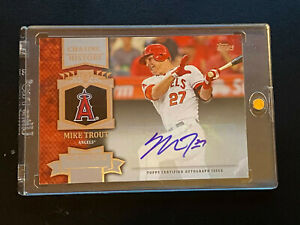 2013 Topps MIKE TROUT Auto Chasing History - Angels