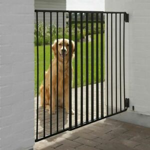 Outdoor Dog Gate Large Barrier Safety Metal Pet Barrier Room Divider Garden New