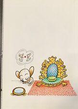 "Xavier Cugat ""Sleeping Chihuahua"" rare and unique mixed media drawing"