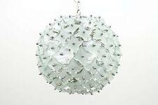 """Glas & Metall """"Snowball"""" Hängeleuchte, Chandelier, Italy 1960s Lampe lamp 60s"""