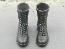 1/6 scale toy GI JOE - Blue Cobra Trooper - Black Combat Boots (Peg Type)