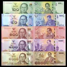 Thailand set 5 PCS, 20 50 100 500 1000 Baht, 2017, COMM., King Rama IX, UNC