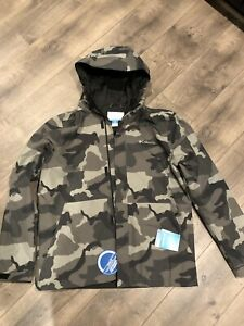 "New Columbia ""Degrey Lake"" EXS Rain Wind Snow Jacket Limited Ed Camo Mens L"