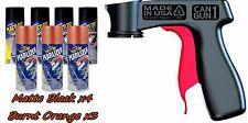 Plasti Dip Wheel Kit 4 Matte Black Burnt Orange Pearlizer 3 Can Spray Trigger