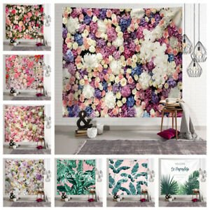 Floral Leaf Printed Tapestry Wall Hanging Bedspread Throw Cover Home Decorations