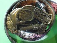 CEINTURE HARLEY DAVIDSON AMERICAN RIDING VINTAGE 1992 PARFAIT ETAT