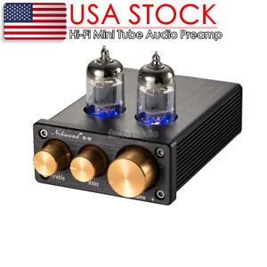 Nobsound Mini Vacuum Tube Preamp HiFi Stereo Audio Pre-Amplifier Treble & Bass
