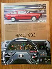 1980 Toyota Corolla SR-5 Sport Coupe Ad   Space 1980