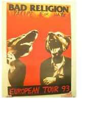 Bad Religion European Tour 1993 Poster Dogs Barking