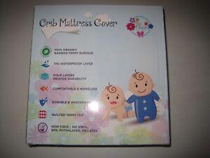 Waterproof Baby Crib Mattress Cover – Organic Bamboo Crib Mattress Pad