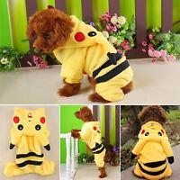 Pets Clothes Pikachu Costume Cat Dog Puppy Apparel Hoodies Coat Sweater Jacket