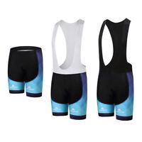 Men's Cycling Shorts / Bib Shorts Gel Padded Bike Bicycle Shorts Bib Knicks Blue