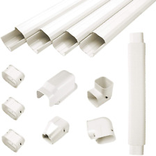 """Guyaac 3"""" W 15ft L Air Conditioner Decorative Pvc Line Cover Kit for Mini Split"""